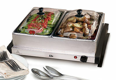 Elite by Maxi-Matic Gourmet 5-qt. Stainless Steel Electric Buffet Server