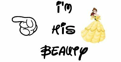 Disney*****i'm His Beauty And The Beast**********shirt Iron On Transfer