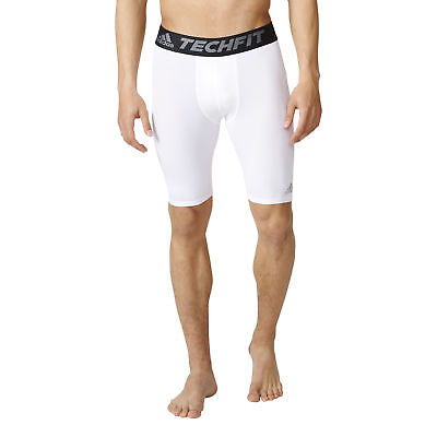 Adidas Techfit Base Short Tight Hose Shorts Fitness Sport Herren Weiß Größe L