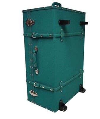 Teal Travel Luggage Trunk