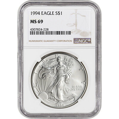 1994 American Silver Eagle - NGC MS69 - NGC Large Label