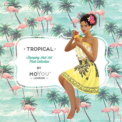 MoYou London TROPICAL Stamping Plates  - 22 Plates to choose