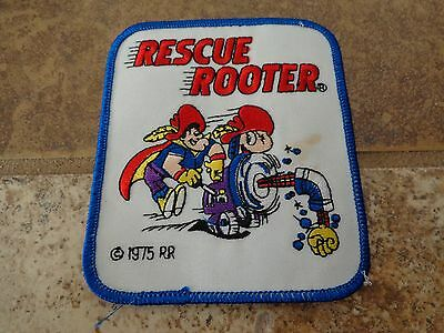 Rescue Rooter Embroidery Patch Advertising, Collect Nice Condition!
