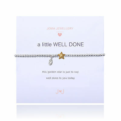 Joma Jewellery Girls a little Well Done CHILDRENS star bracelet in gift bag
