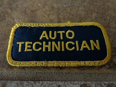 Auto Technician Embroidery Patch Advertising, Collectors Nice!