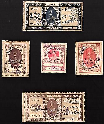 5 MULI (INDIAN STATE) Stamps