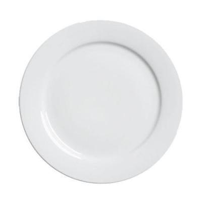 18x Round Plate, White 280mm, Wide Rim, Duraceram, Cafe / Restaurant / Crockey