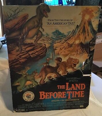 The Land Before Time Dinosaur Cardboard Poster Pizza Hut