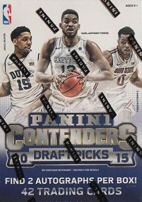 Panini Contenders - 7 Pack Blaster Box Sealed NBA Basketball Cards 2015/16
