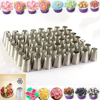 56 Series Russian Flower Icing Piping Nozzles Novel Decoration Tips Baking Tools