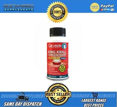 Caruso's King Krill Oil Odourless 60 Capsules 1000Mg -Omega 3