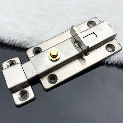 New Stainless steel Bathroom Toilet Door Automatic Spring Latch Slide Bolt Lock