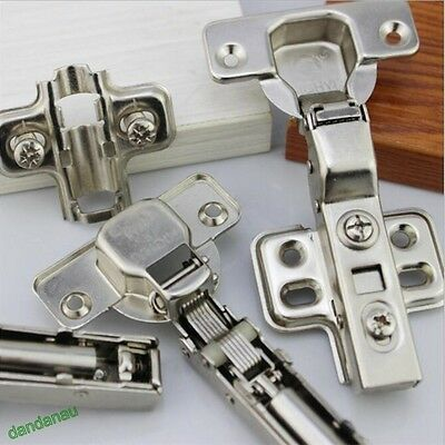 20 x GTV SOFT CLOSE 35mm KITCHEN CABINET DOOR HINGE PLATE + SCREWS