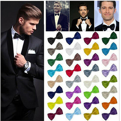 Men Classic Satin Bowtie Necktie Bow Tie Tuxedo Wedding Party Fashion Adjustable