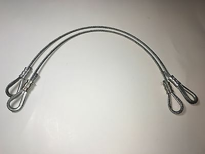 Wire Rope Sling - Eye and Eye - 19'' - Lot of 2