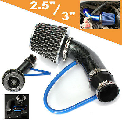 Carbon 2.5'' - 3.0'' Universal Cold Air Intake Induction Hose Pipe System Filter