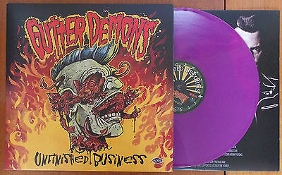 GUTTER DEMONS - Unfinished Business PURPLE VINYL LP (NEW) PSYCHOBILLY (Ltd Ed)