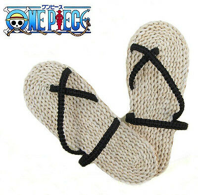 One Piece Monkey D Luffy Sandals Shoes Straw Flip-Flops Cosplay Shoes Halloween