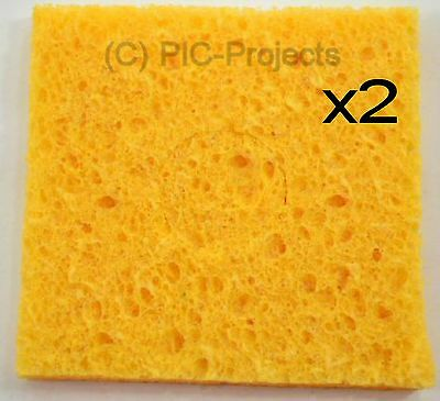 2 * Soldering Iron Sponge 60 x 60mm for Bit / tip cleaning solder cleaner - UK