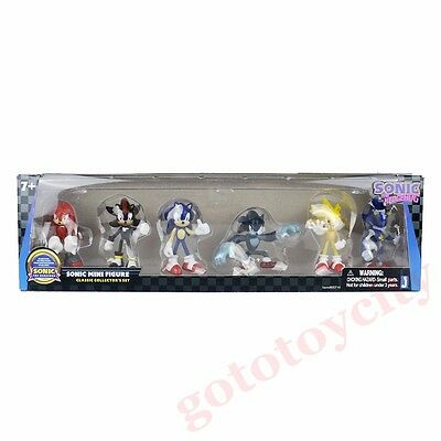 6Pcs Set Mini Sonic The Hedgehog Classic Collectible Action Figure New In Box