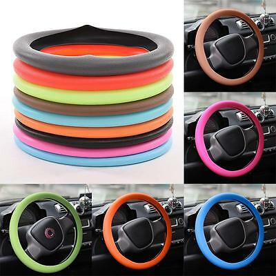 New Muti Color Silicone Leather Texture Car Auto Steering Wheel Glove Cover Glow
