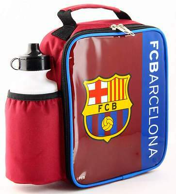 FC Barcelona Vertical Lunch Bag/Box and 600ml Bottle Set | Football Lunchbox