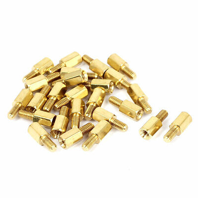 M3x7+6mm Female/Male Threaded Brass Hex Standoff Pillar Spacer Coupler Nut 25pcs