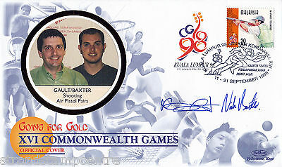 """1998 Commonwealth Games - Benham """"Special"""" - Signed by GAULT & BAXTER"""