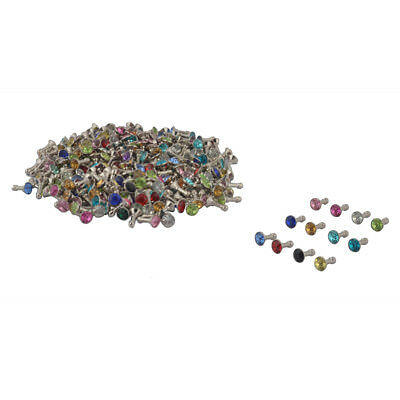Faux Rhinestone Decor Earphone Jack Anti Dust Ear Cap Assorted Color 200pcs