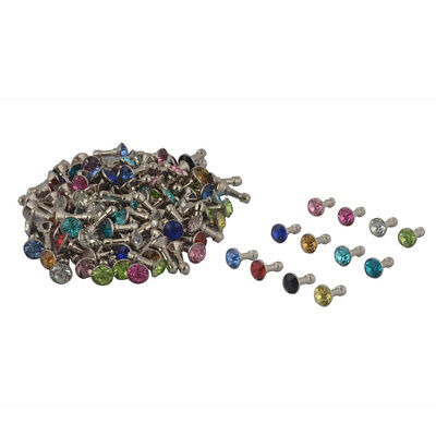 Faux Rhinestone Decor Earphone Jack Anti Dust Ear Cap Assorted Color 150pcs