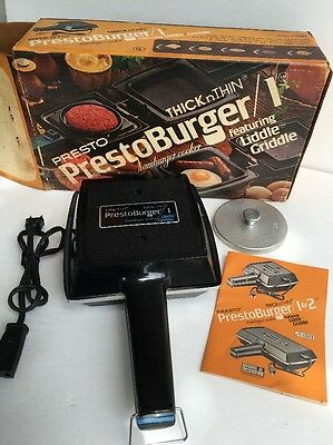 vintage presto burger 2 hamburger cooker prestoburger. Black Bedroom Furniture Sets. Home Design Ideas