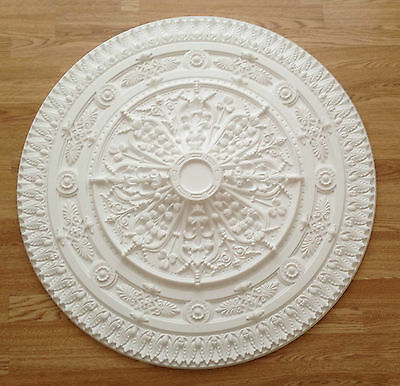 Super Size Ceiling Rose - Lightweight Resin (Not Polystyrene) - Victoria 960mm