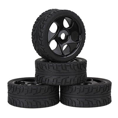 4pcs RC 1/8 On road Buggy Tires Hex 17mm Wheels for HPI Racing Car
