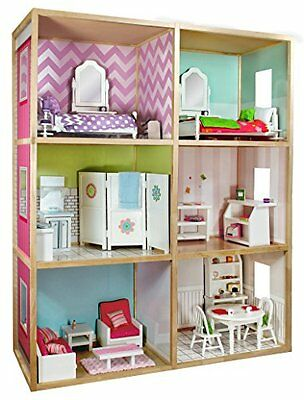 My Girls Dollhouse for 18 Dolls - Modern Home Style