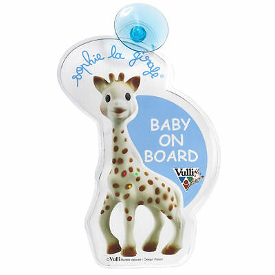 Baby On Board Flashing Car Sign  Sophie the giraffe vulli, on Board badge nice