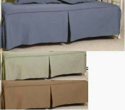 Solid Color Tone-On-Tone Daybed Cover - Blue, Sage, Khaki