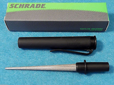 "SCHRADE SCHDDS Diamond Pick shirt pocket knife sharpener 4 5/8"" closed NEW!"