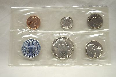 1964 Philadelphia Mint 90% Silver Proof Coin Set  - 5 COINS