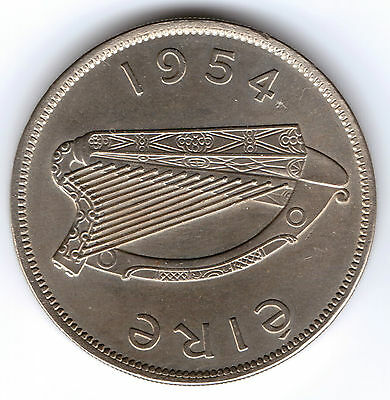 Irish Leat Coroin Half Crown 1954 Bunc