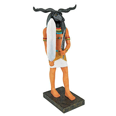 Khnum Ram Head God of the Waters Holds Feather Knife Ancient Egyptian God Statue