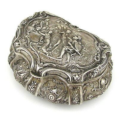 Antique Sterling Silver Repousse Trinket Jewelry Box  | G IT
