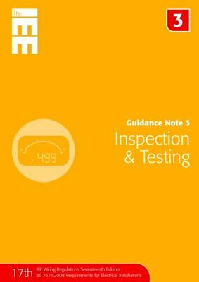 Guidance Note 3: Inspection and Testing (Guidance Not... by Jon Elliot Paperback