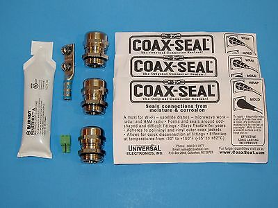 COAX-SEAL Moisture Sealant Tape BURNDY PENETROX Joint Compound CABLE GLAND Kit