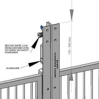 Pool Gate Safety Latch - MAGNETIC GATE LATCH -  with Remote Control Alarm System