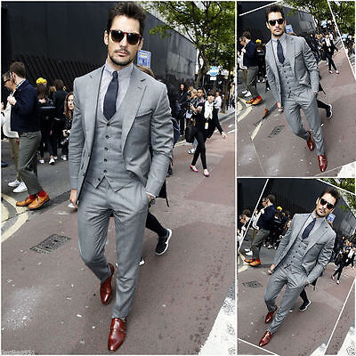 2016 Slim Fit Groom Tuxedos for Wedding Formal Party Men Suits Groomsmen Suits