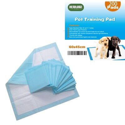 Heritage Pets 200 X Large Puppy Training Pads Wee Wee Toilet Trainers 60 x 45cm