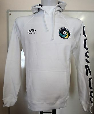 New York Cosmos White Hoody By Umbro Adults Size Xl Brand New With Tags