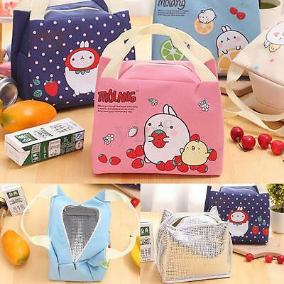 Cute Insulated Cooler Thermal Picnic Kids Lunch Bag Portable Food Storage  Tote