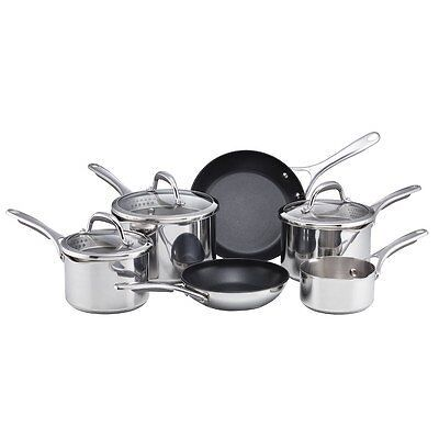 Meyer 6 Piece Stainless Steel Select Non-Stick Cookware Saucepan Set, Gift Boxed