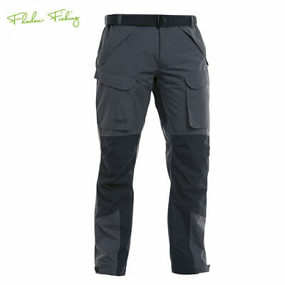 Fladen Authentic Trousers Outdoorhose Grey/Black wasserdicht Angelhose, Jagd